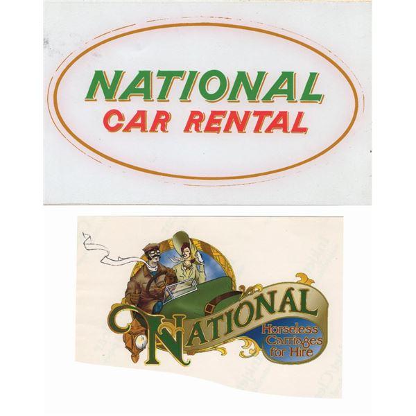 Pair of National Car Rental Graphics.