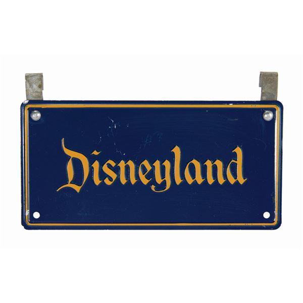 Disneyland Stroller License Plate.