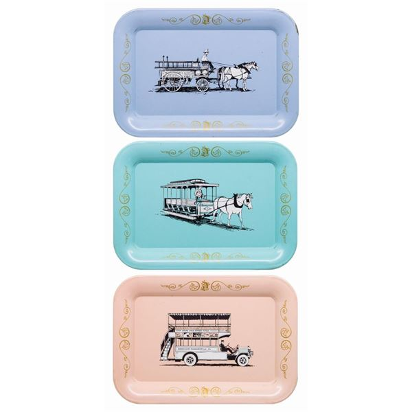 Collection of (3) Main Street Vehicle Tip Trays.