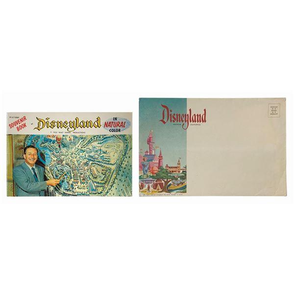"""Picture Souvenir Book of Disneyland"" w/ Envelope."