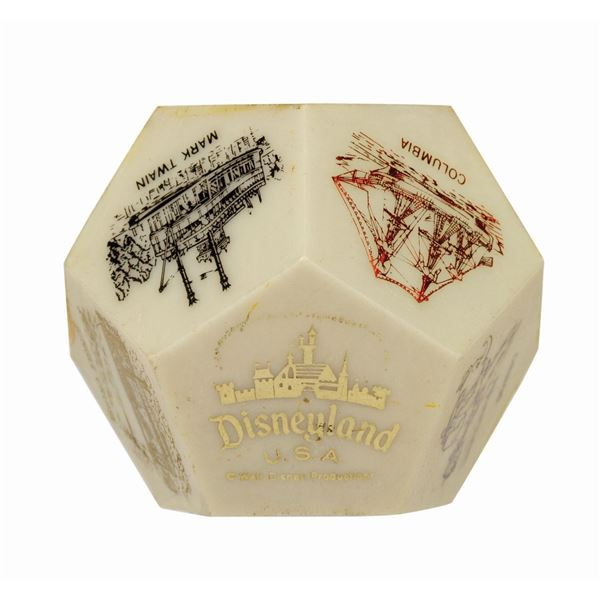 Disneyland Twelve-Sided Paperweight.