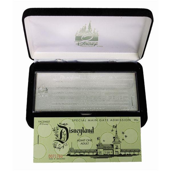 Disneyland Silver-Plated Replica E-Ticket.