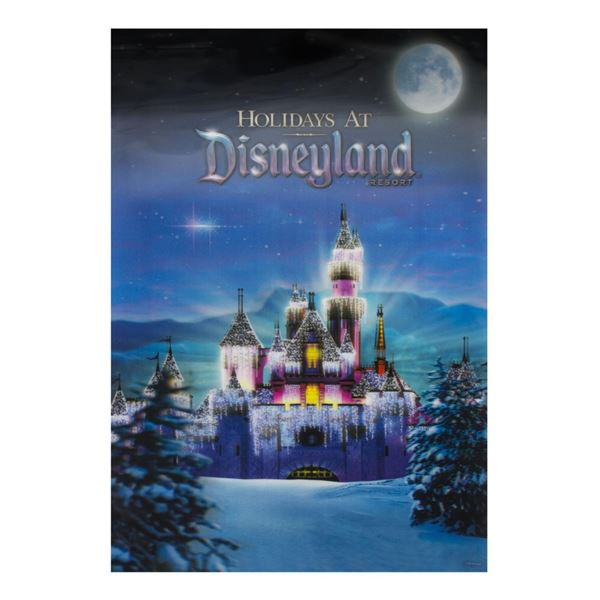 Holidays at Disneyland Lenticular Travel Poster.