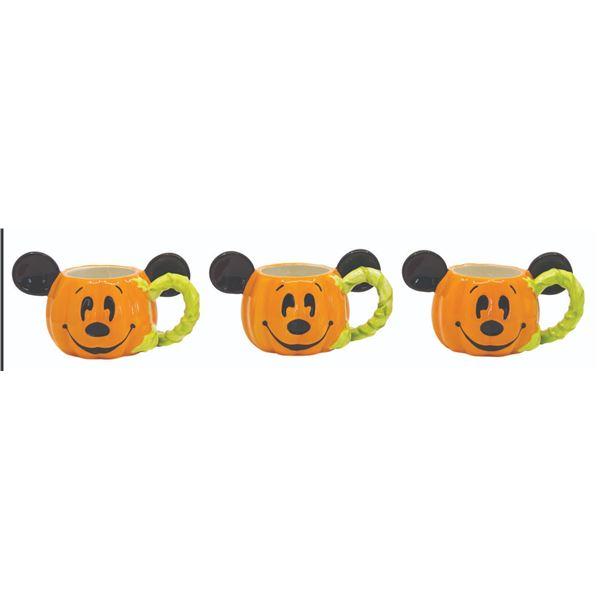 Set of (3) Mick-E-Lantern Halloween Demitasse Mugs.