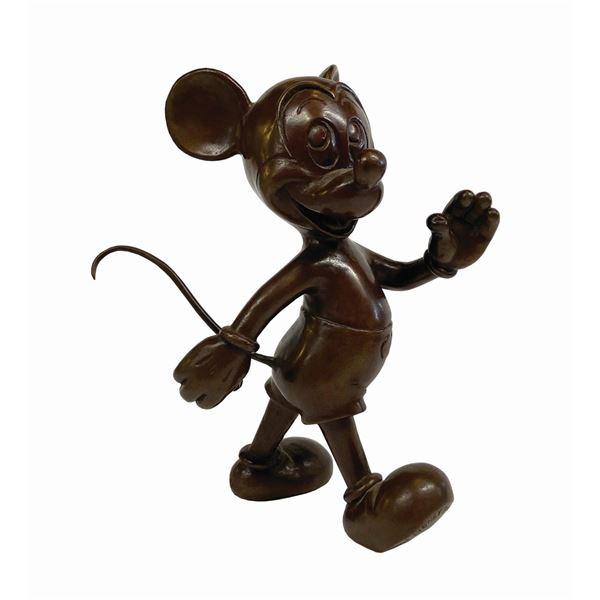 Blaine Gibson Signed Bronze Mickey Statue.
