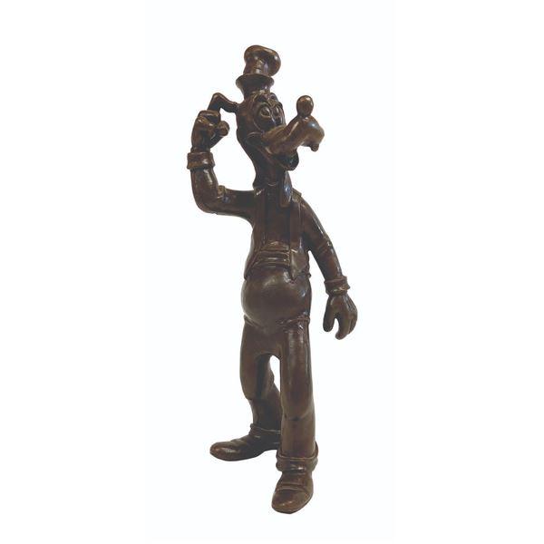 Blaine Gibson Signed Bronze Goofy Statue.