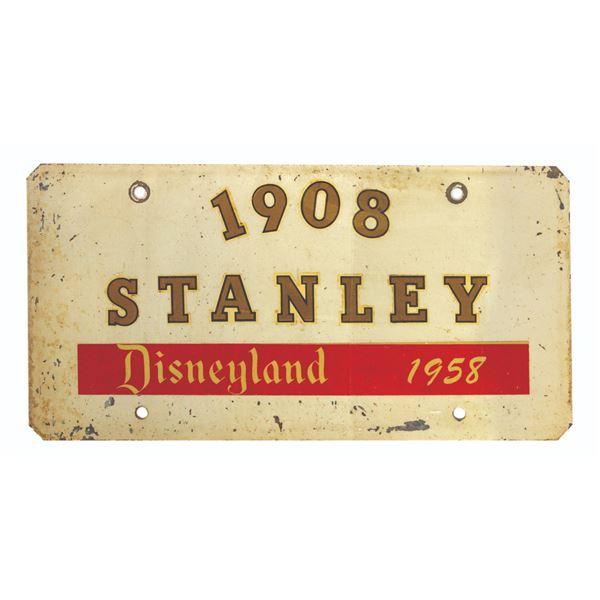 1908 Stanley Steamer Disneyland License Plate.