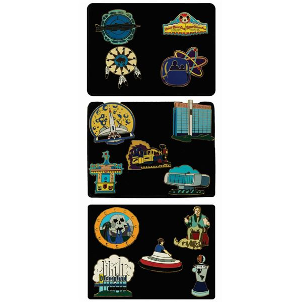 Collection of (14) Classic Disneyland Anniversary Pins.