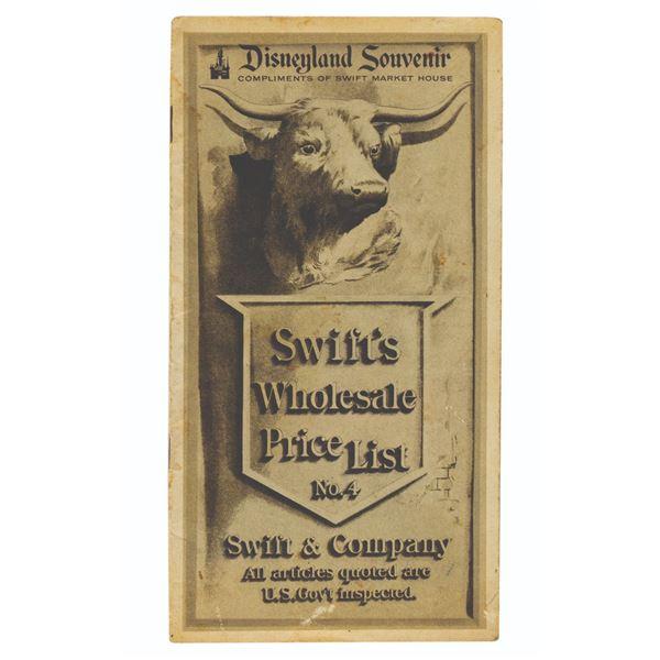 Swift's Market House Wholesale Price List.