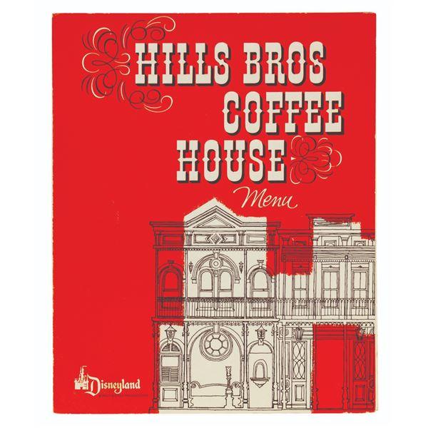 Hills Bros. Coffee House 1966 Menu.