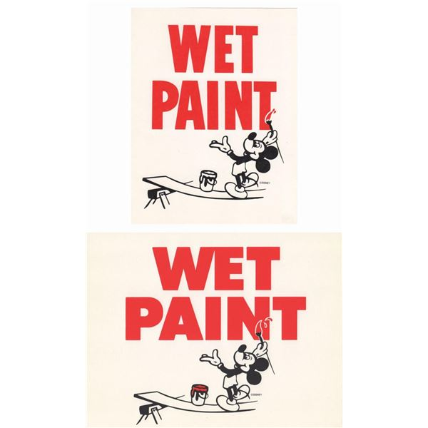 Collection of (3) Wet Paint Signs.