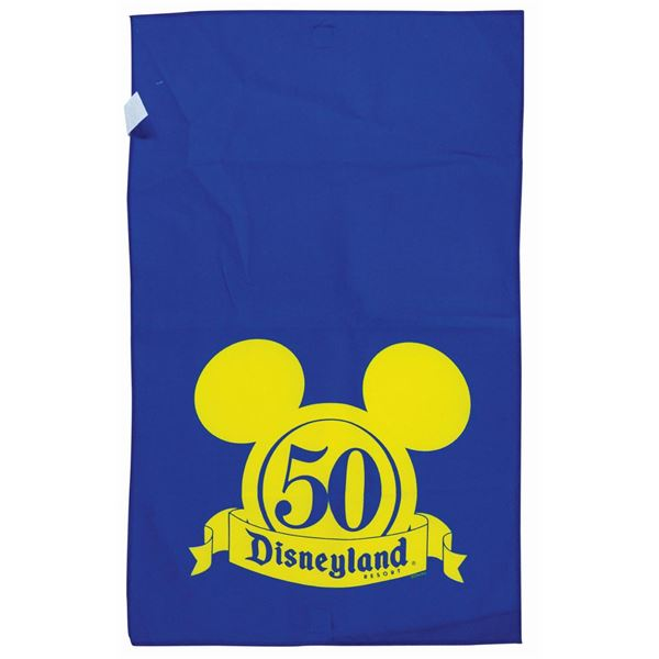 Disneyland 50th Anniversary Crowd Control Banner.
