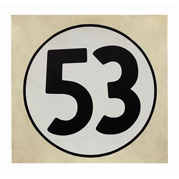 Disneyland Herbie the Love Bug Racing Number Badge.