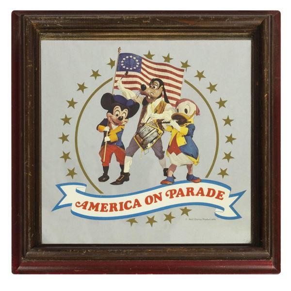 """America on Parade"" Press Preview Glass Mirror."