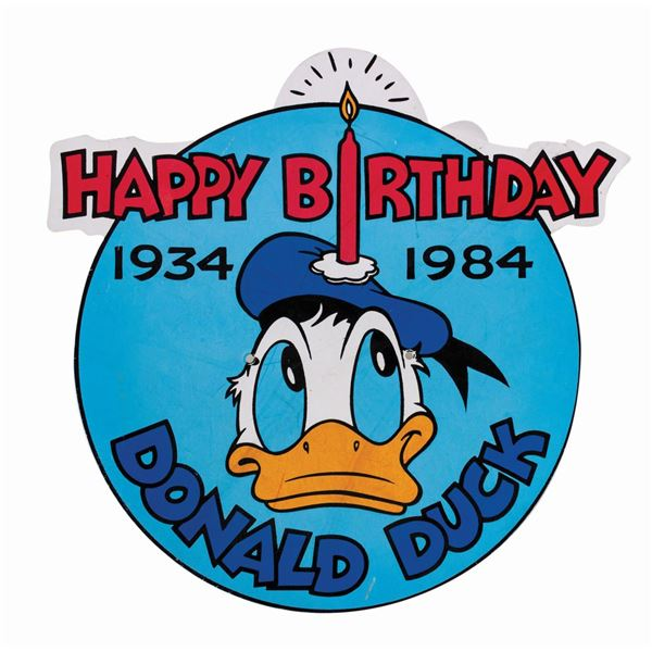Donald Duck's 50th Birthday Sign.