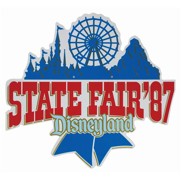 Disneyland State Fair Lamppost Sign.