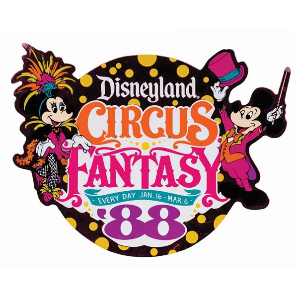 Circus Fantasy '88 Lamppost Sign.
