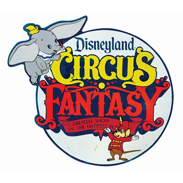 Circus Fantasy Lamppost Sign.