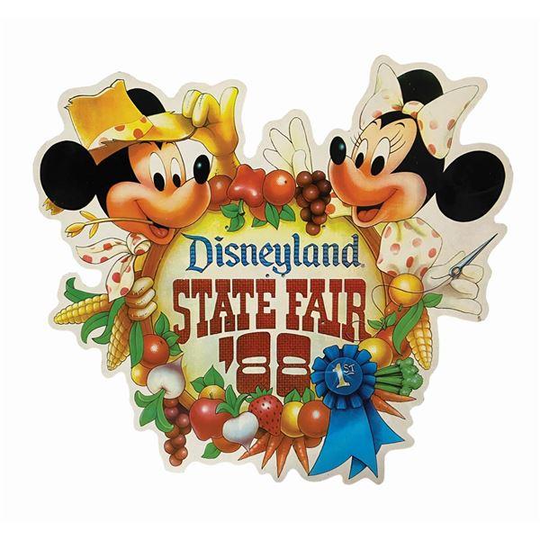 "Oversized ""State Fair '88"" Disneyland Sign."