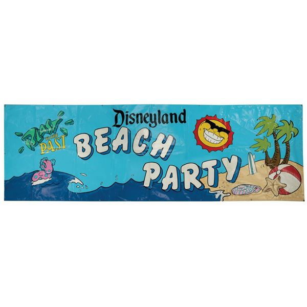 Blast to the Past Beach Party Stage Banner.