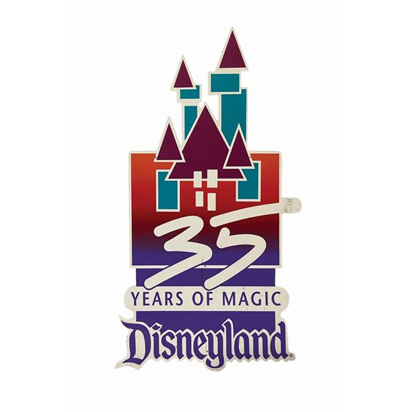 Oversized Disneyland 35th Anniversary Lamppost Sign.