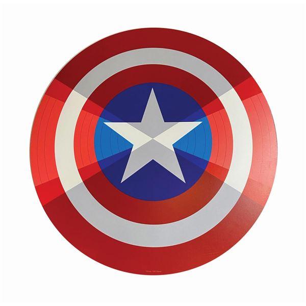Captain America Shield Prop Sign.