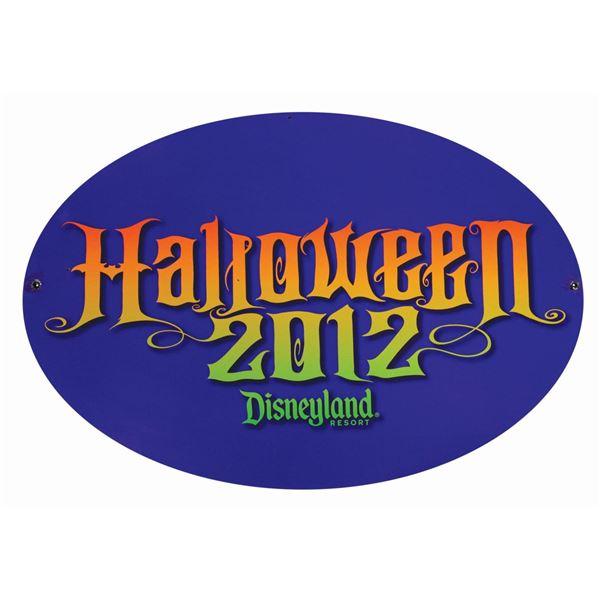 Disneyland Halloween 2012 Store Sign.