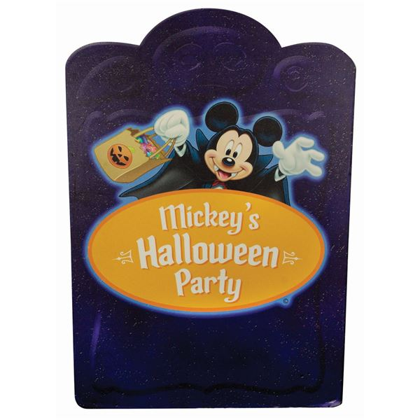 Mickey's Halloween Party Disneyland Park Sign.
