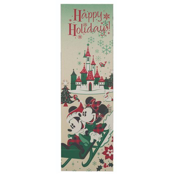 Disneyland Happy Holidays Park Sign.