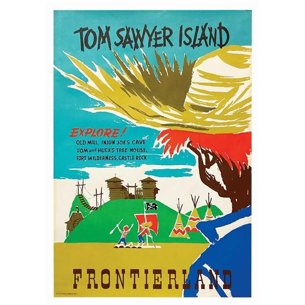 Original Tom Sawyer Island Attraction Poster.