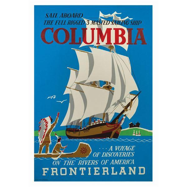 Sailing Ship Columbia Attraction Poster.