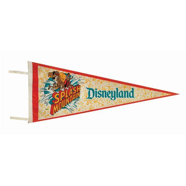 Splash Mountain Disneyland Pennant.