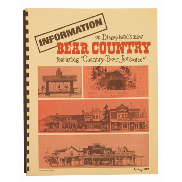 Bear Country Opening Information Booklet.