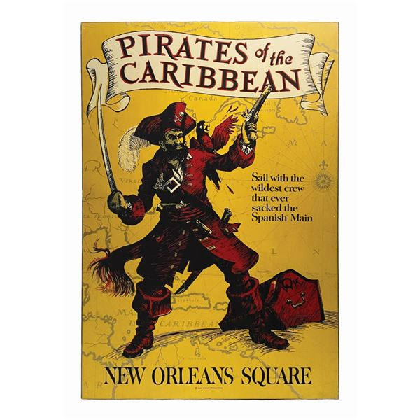 Pirates of the Caribbean Attraction Poster on Board.