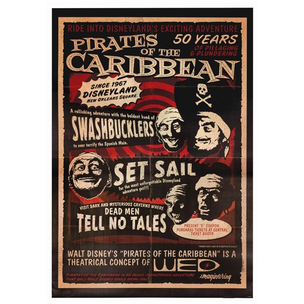 Pirates of the Caribbean Anniversary Attraction Poster.
