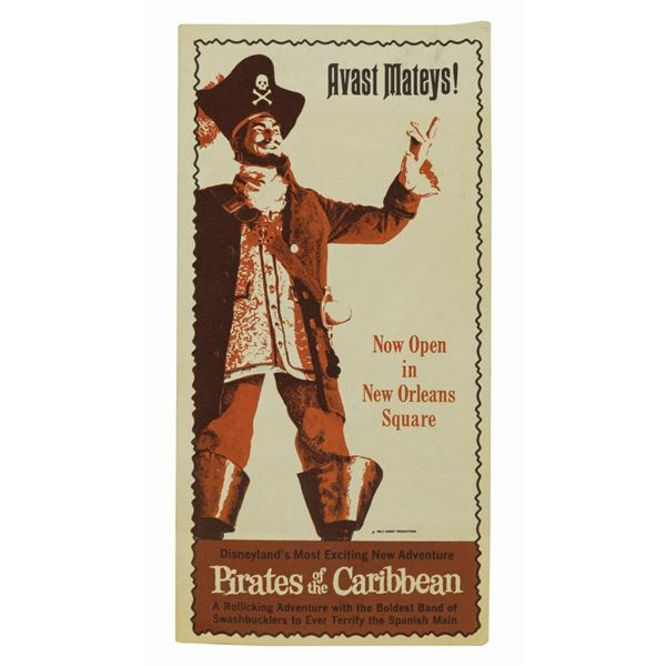 Pirates of the Caribbean Grand Opening Gate Brochure.