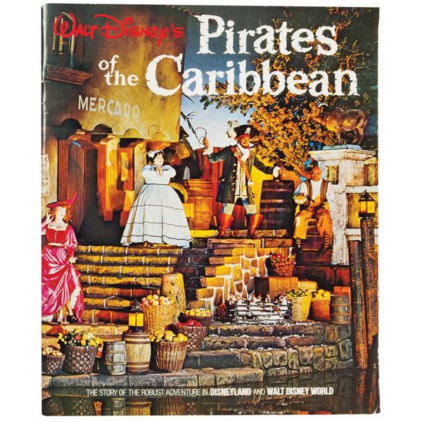 Walt Disney's Pirates of the Caribbean Souvenir Book.