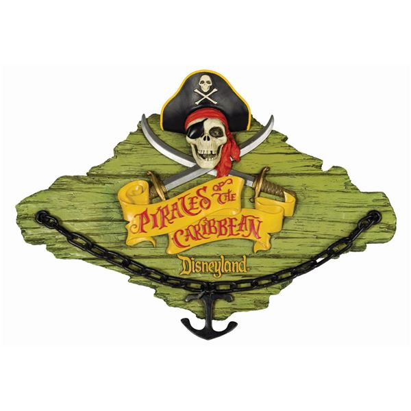 Pirates of the Caribbean Talking Plaque.