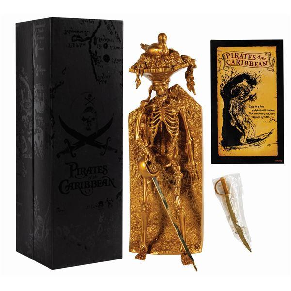 Limited Edition Bird Head Skeleton Pirate Gold Figure.