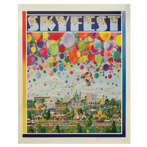 Skyfest Lithograph Signed by Charles Boyer.