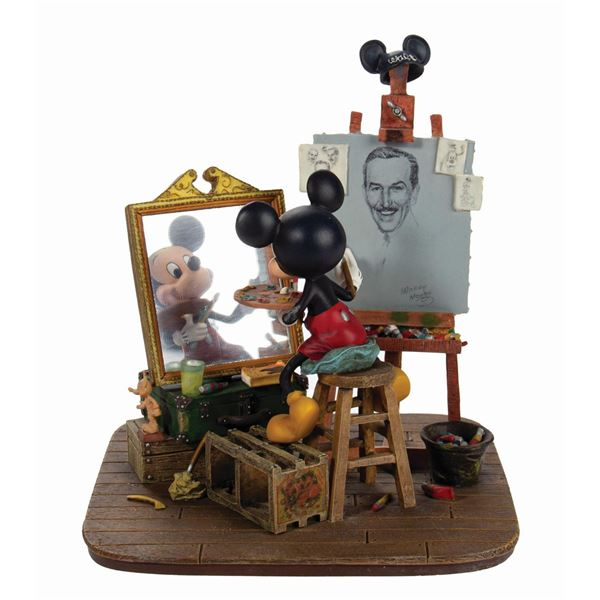 Self-Portrait Mickey Mouse Figurine.