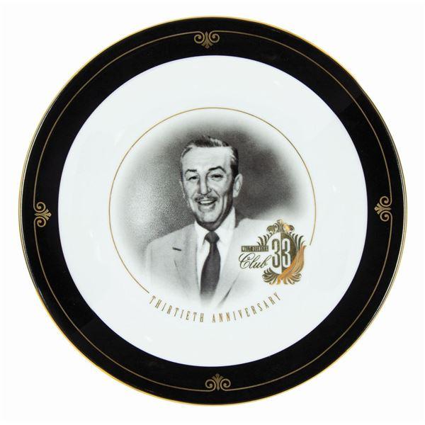 Club 33 Walt Disney 30th Anniversary Plate.
