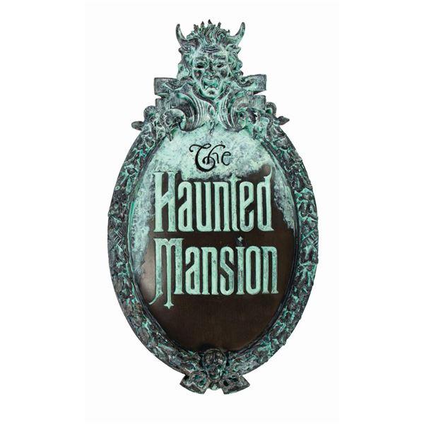 Haunted Mansion Prototype Replica Gate Plaque.
