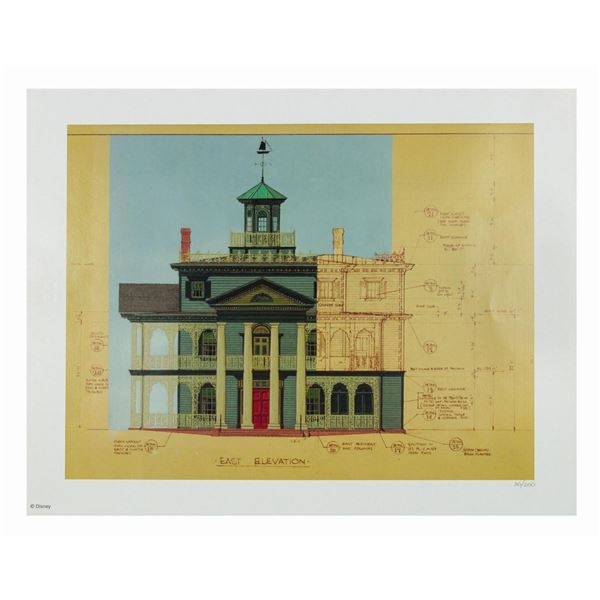 Haunted Mansion Elevations Limited Edition Print.