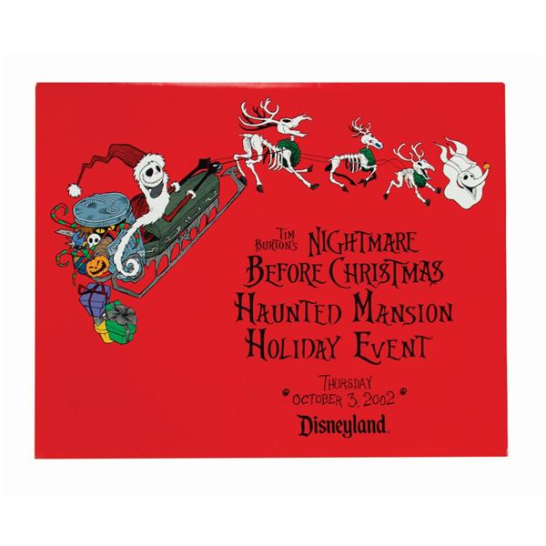 Haunted Mansion Holiday Event Art Print.