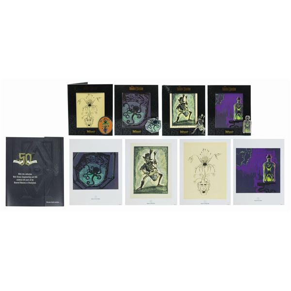 Haunted Mansion Concept Art Pins and Prints Set.