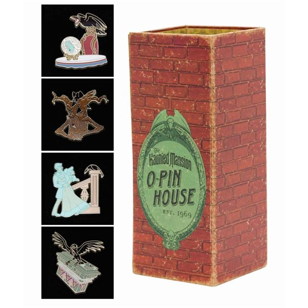 Haunted Mansion O-Pin House Raven (4) Pin Set.