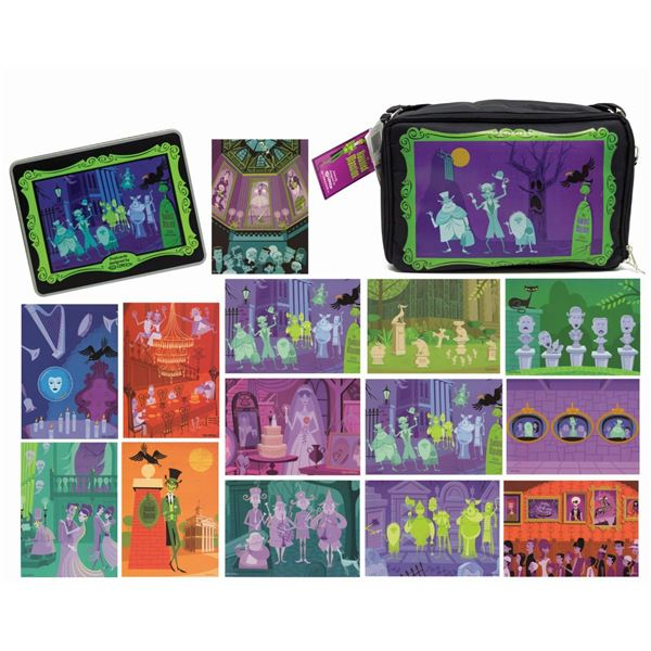Shag Haunted Mansion Lunch Bag & Postcard Tin.