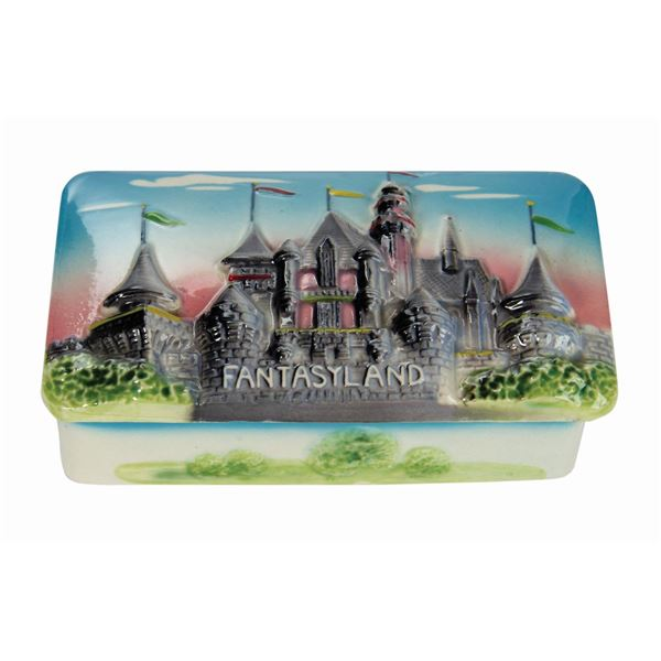 Fantasyland 3-D Ceramic Cigarette Box.