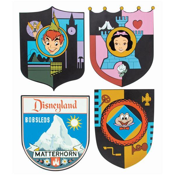 Fantasyland 50th Anniversary (4) Shield Sign Set.